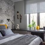 шторы к серым обоям оформление фото