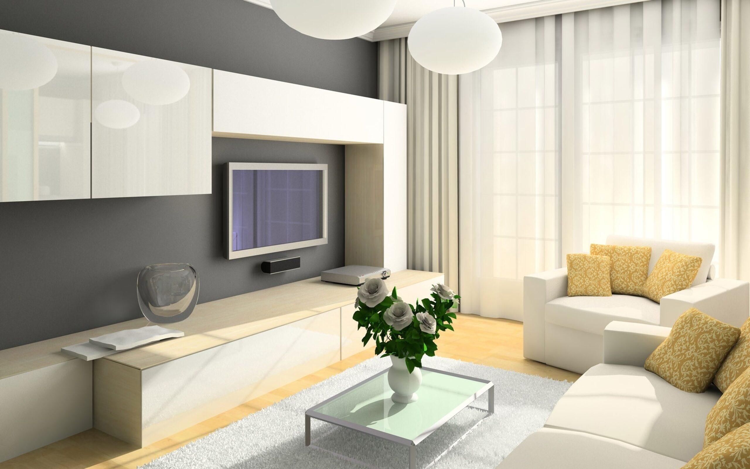 шторы к серым обоям в гостиной
