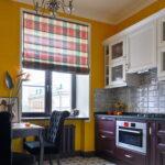 шторы на кухню интерьер фото