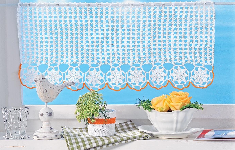шторы на кухню вязаные