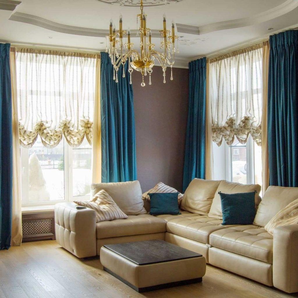 шторы для гостиной зоны