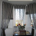 шторы в кухню-гостиную серые прозрачные