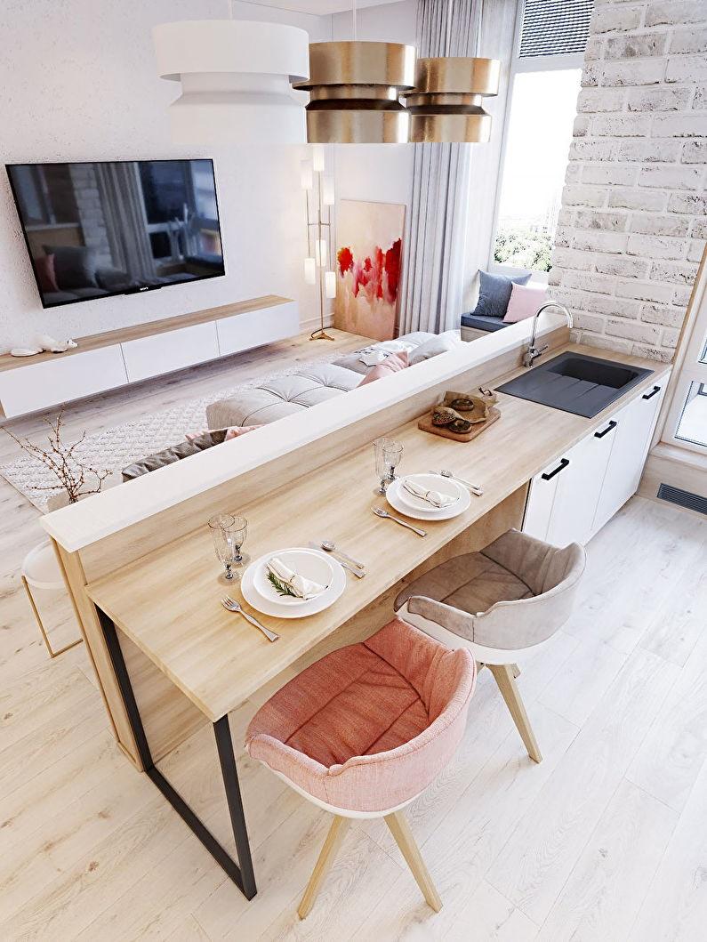 шторы для кухни-гостиной лофт