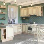 шторы в кухню-гостиную кантри