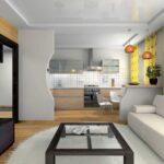 шторы в кухню-гостиную желтые с рисунком