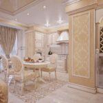 шторы в кухню-гостиную собранные