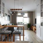 шторы в кухню-гостиную лофт