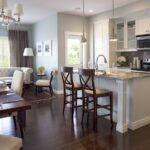шторы в кухню-гостиную коричневые длинные