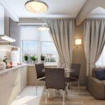 римские и портьеры для кухни-гостиной