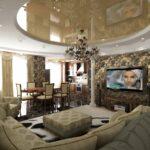 шторы в кухню-гостиную с телевизором