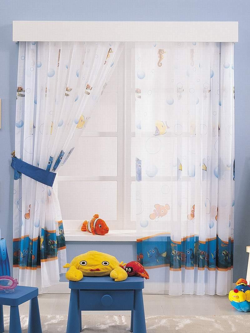 морские шторы с принтами для детей