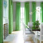 морские шторы зеленые длинные