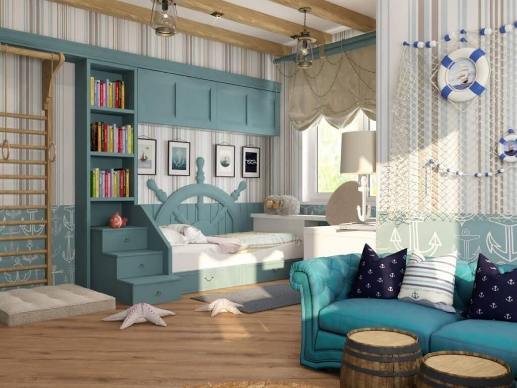 морской дизайн в помещениях