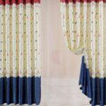 морские шторы сине-белые