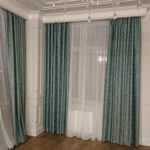 морские шторы с тюлем