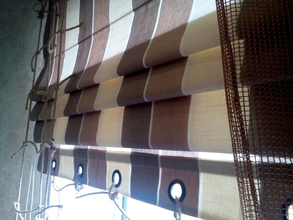Римские шторы в морском стиле
