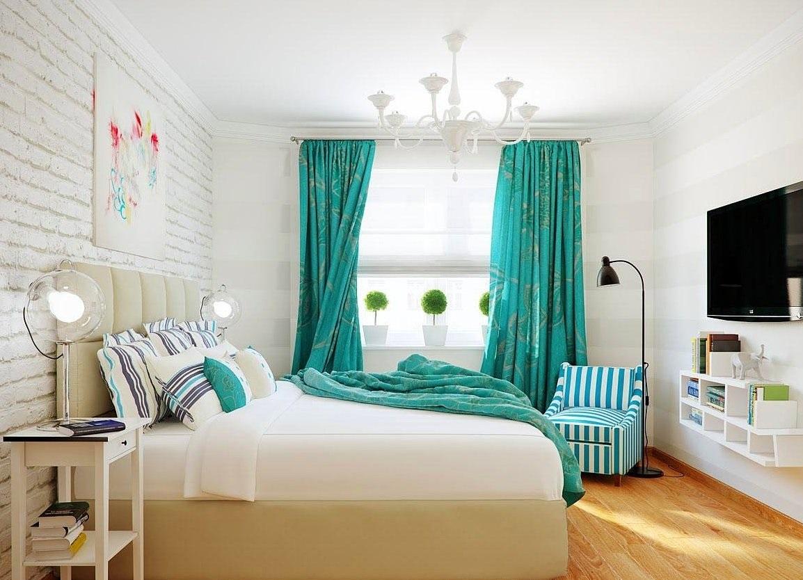 морские шторы для спальни