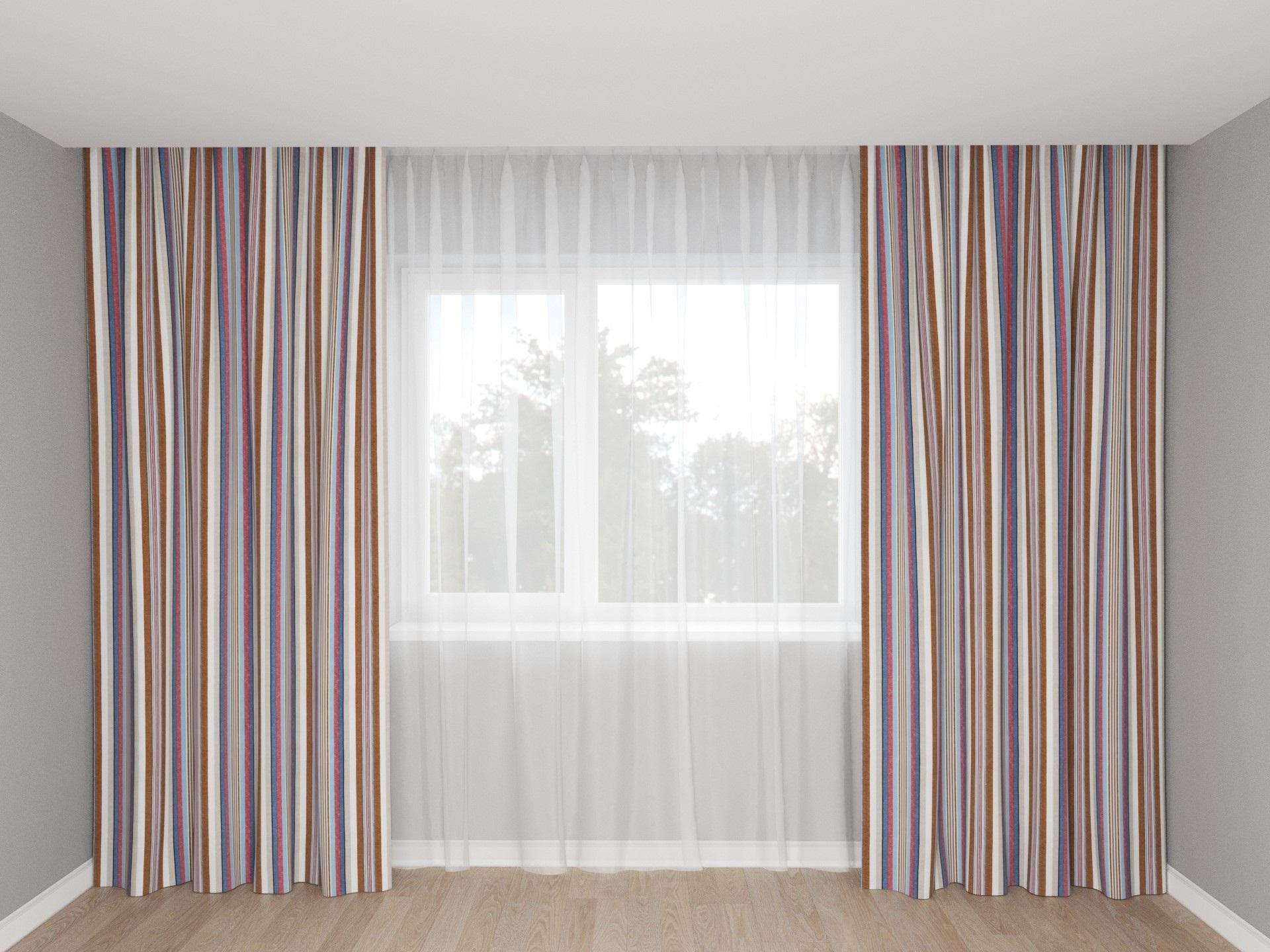 шторы с вертикальными полосами