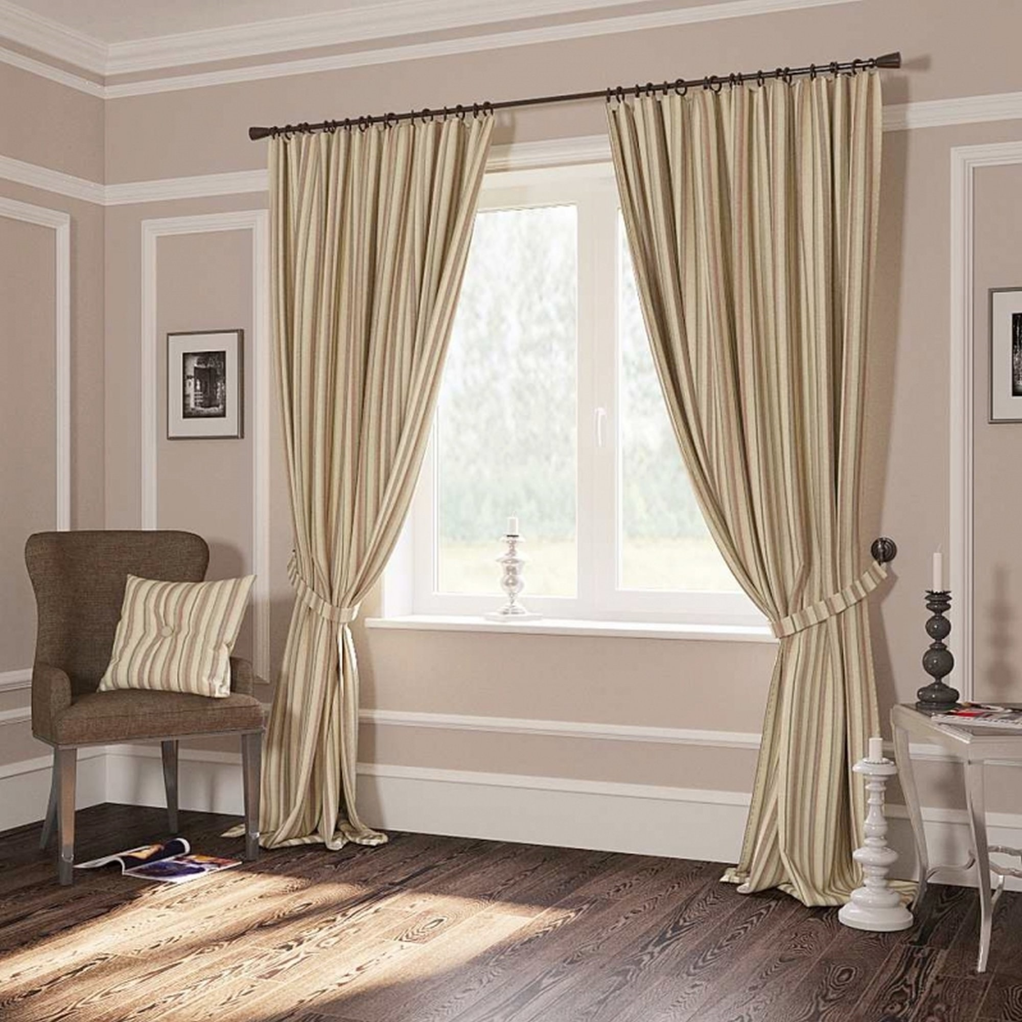 полосатые шторы классические