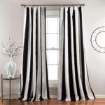 шторы в полоску черно-белые