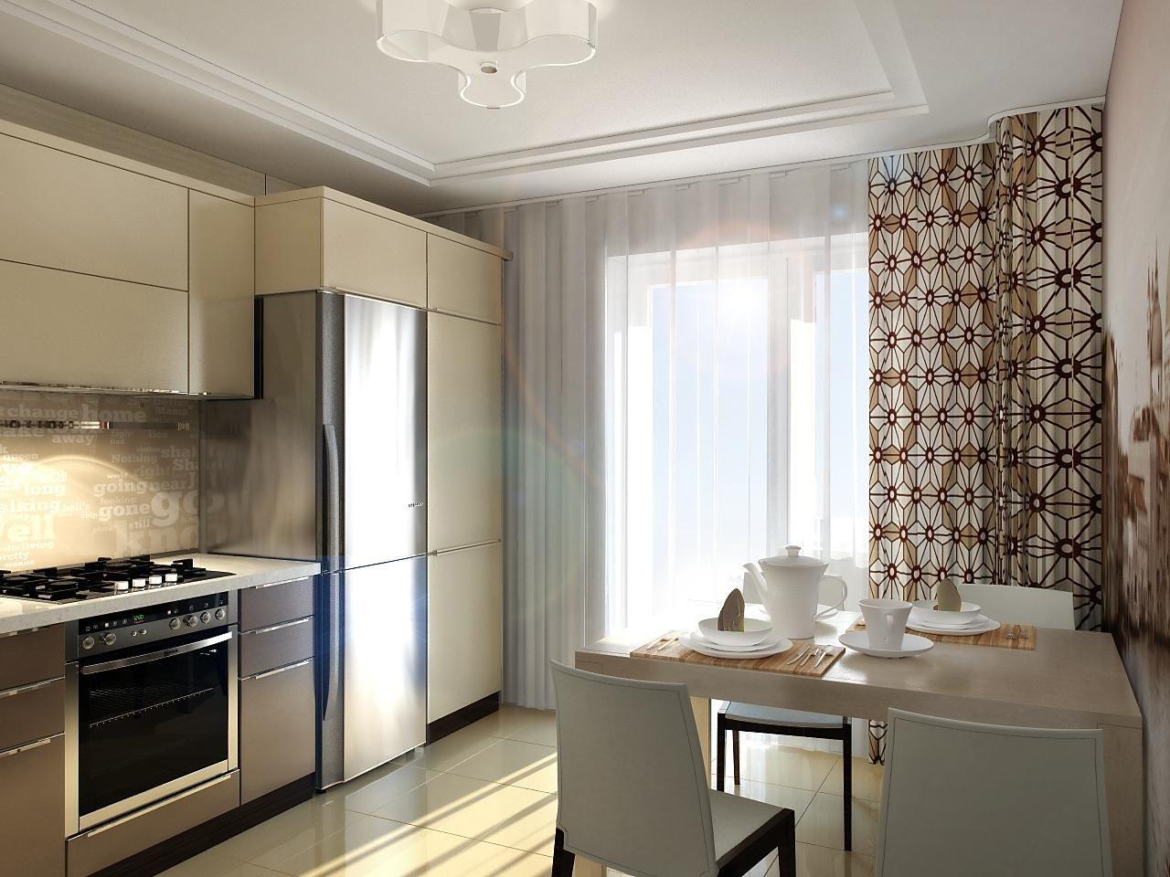 шторы на кухню хай тек
