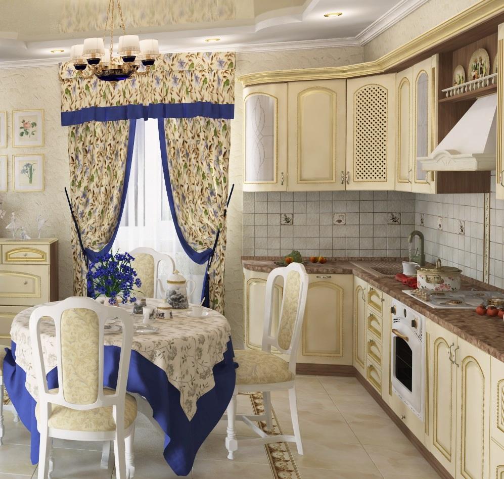 шторы на кухню с ламбрекеном
