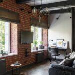 шторы лофт римские коричневые