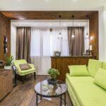 шторы лофт бежевые в гостиной