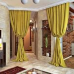 шторы лофт желтые