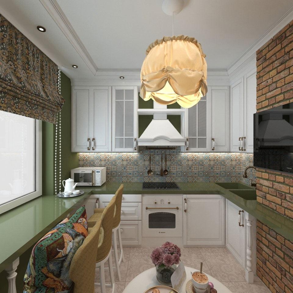 шторы лофт для кухни