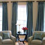 шторы лофт синие