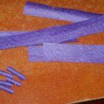 скручивание полосок из бумаги
