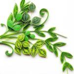 листья из жгутов