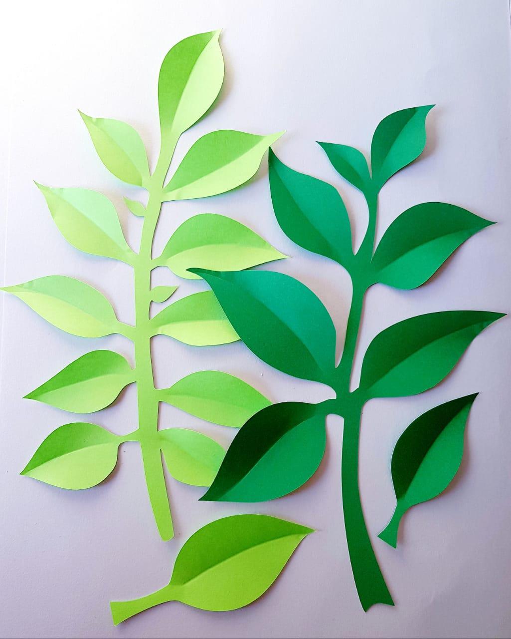 приклеивание листьев