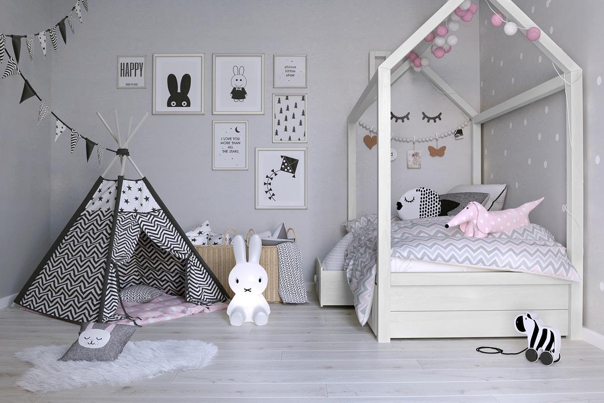 стилистика детской с кроватью