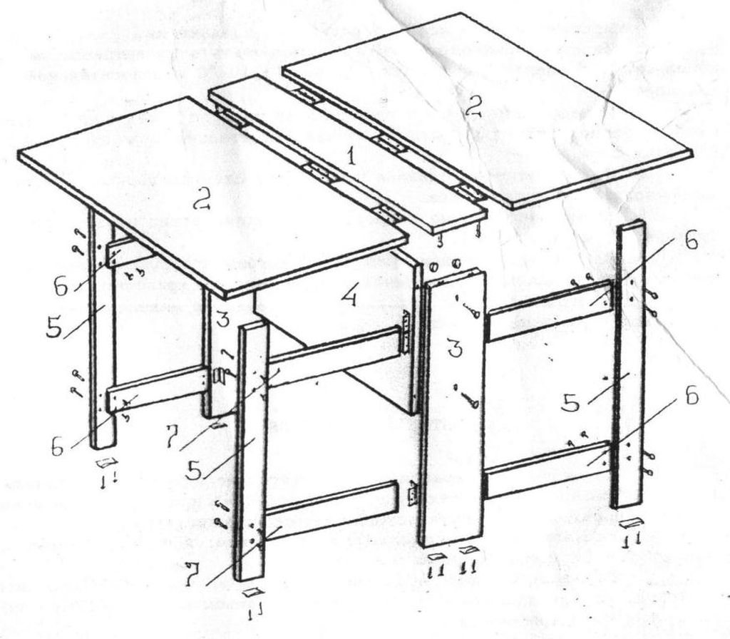 Чертеж стола