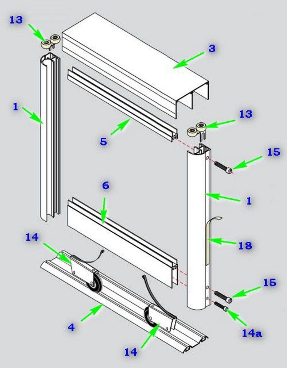 схема сборки двери шкафа купе