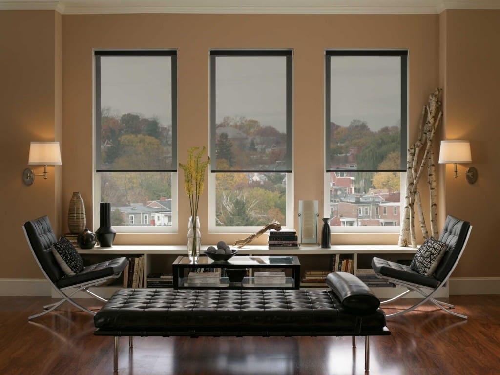 рулонные шторы из сетки