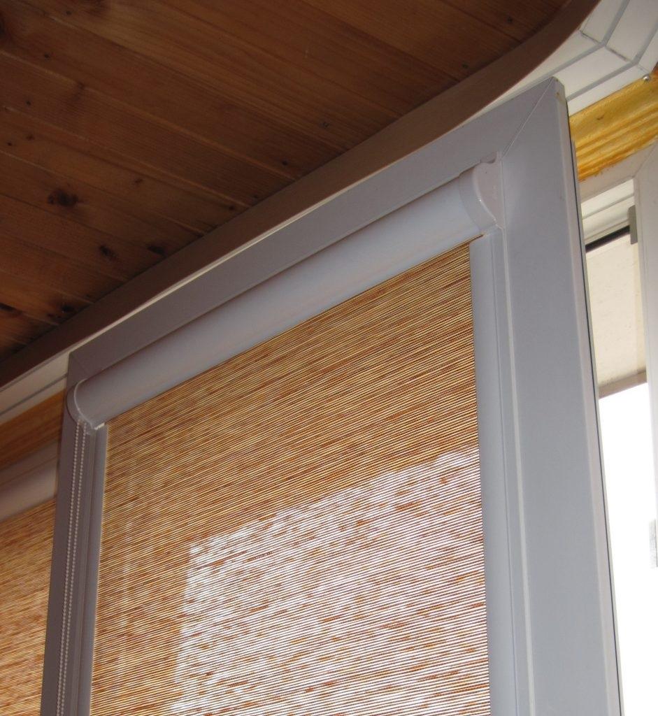 рулонные шторы из рисовой соломки