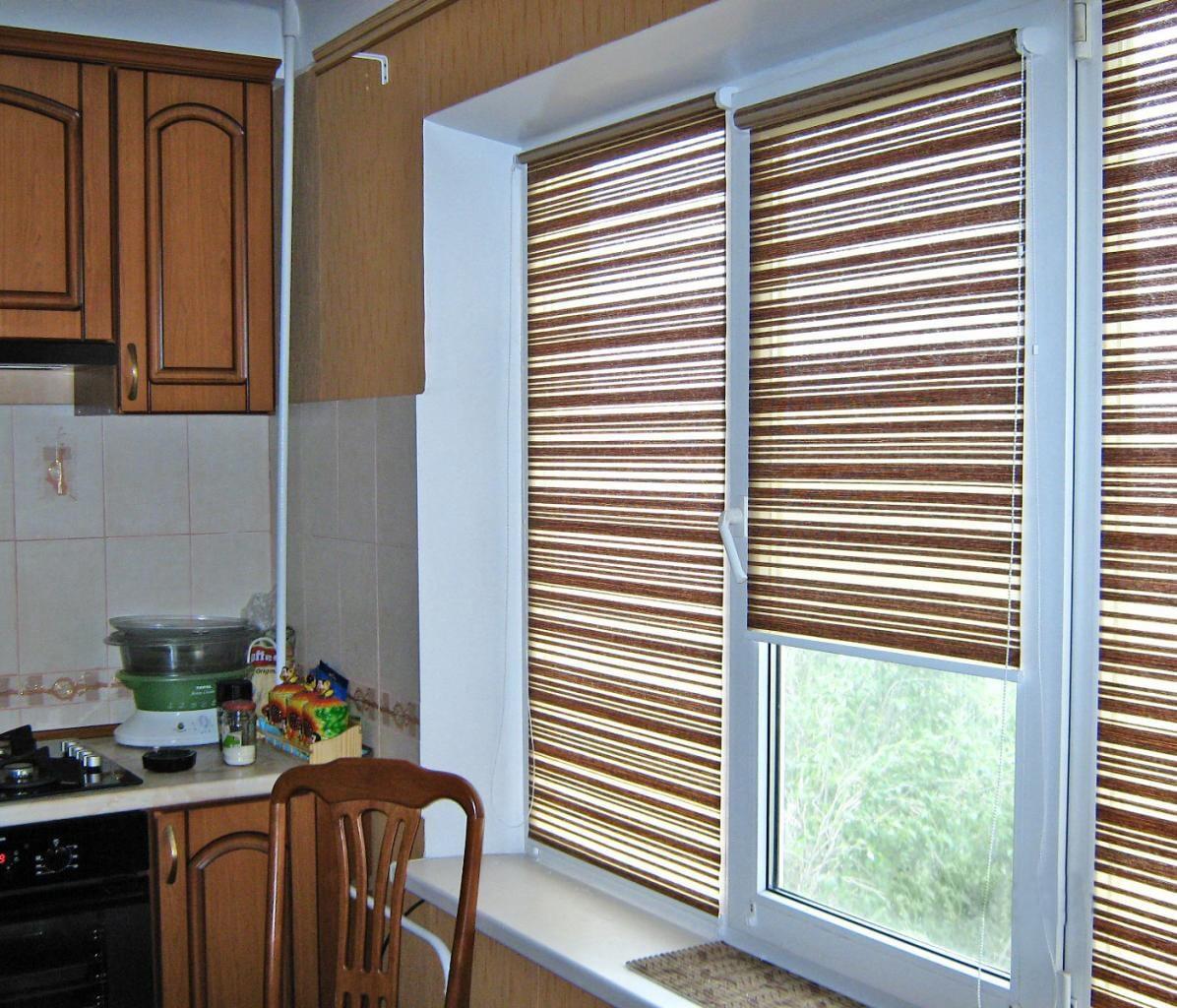 рулонные шторы из циновки