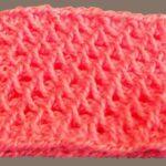 образец скрученного вязания