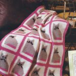 тунисская вязка плед с котами