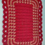 тунисская вязка красный ковер