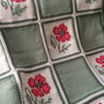 тунисская вязка плед с цветами