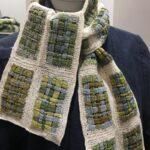 тунисская вязка шарф