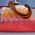 тунисская вязка сумка с ручками