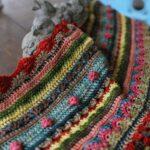 тунисская вязка плед с шишечками