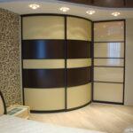 шкаф встроенный полукруг