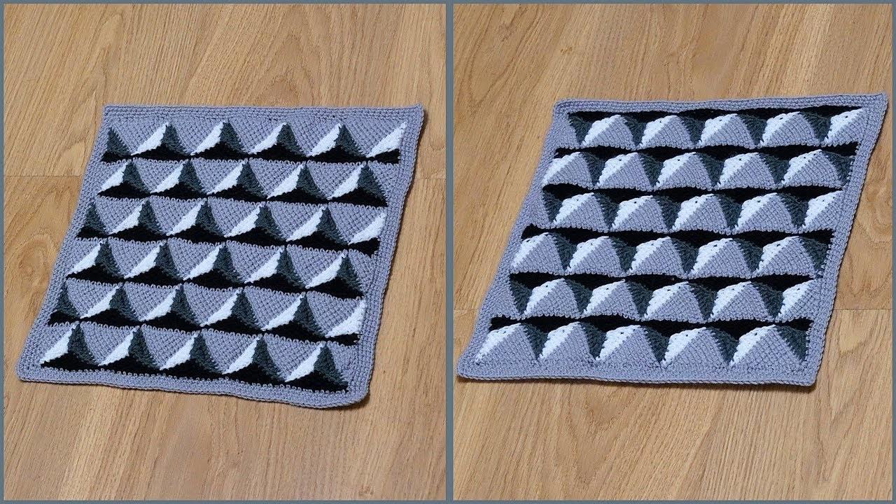 вязка прямоугольника для подушки
