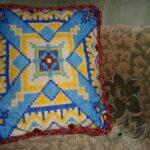 подушки вязаные с орнаментом